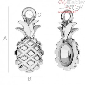Silver Findings 925 - Pineapple charms - ODL-00150
