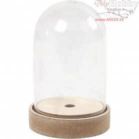 Bell on a Wooden Stand, H: 12,5 cm, D: 8 cm, 1pack