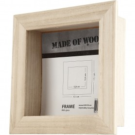 3D Photo Frame, size 17,1x17,1 cm,  empress wood, 1pc