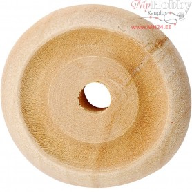 Wheel, D: 24x8 mm, thickness 8 mm, china berry, 8pcs, hole size 3 mm