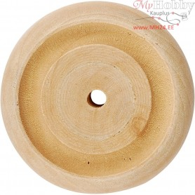 Wheel, D: 42x11 mm, thickness 11 mm, china berry, 4pcs, hole size 3 mm