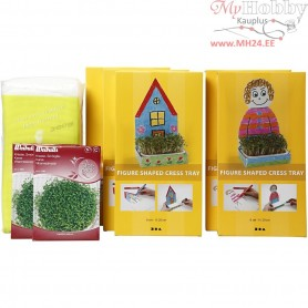 Figure Shaped Cress Trays, H: 20 cm, white, 30sets