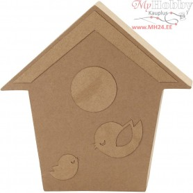 Bird House, H: 18 cm, depth 2,5 cm, 1pc
