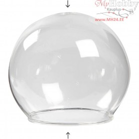 Clear Glass Baseless Hanging Bauble, D: 8 cm, hole size 5 cm, transparent, 4pcs