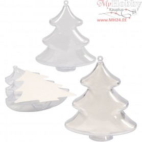 Decoration Tree, H: 10 cm, transparent, 5pcs