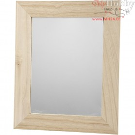 Mirror, rectangular, size 26x32 cm, carving: 18x24 cm, empress wood, 1pc