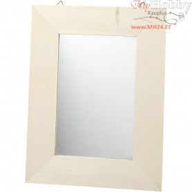 Mirror, size 20,8x15,9 cm, thickness 0,6 cm, plywood, 1pc, carving: 9,2x14,2 cm