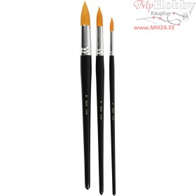 Big Size - Gold Line Brush, L: 31,5+33+33 cm, W: 8+12+18 mm, round, 3mixed