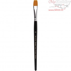 Gold Line Brushes, size 12 , W: 12 mm, flat, 6pcs