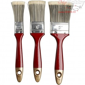 Varnish Brushes, W: 2,5-4,5 cm, 3mixed