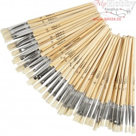 YellowLine Brush Set, size 6+8+10+12 , 48mixed