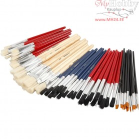 YellowLine Brush Set, size 4+8+10+12+3/4 , 60mixed