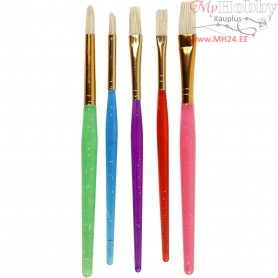 Kids Paint Brushes, size 8+12+18 , asstd colours, 5mixed