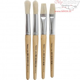 Kids Paint Brushes, W: 15 mm, 4mixed