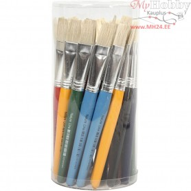 Kids Paint Brushes, W: 15 mm, flat, 30pcs