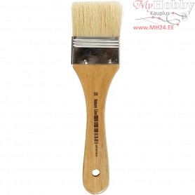 Varnish Brushes, W: 50 mm, 12pcs