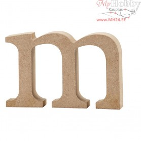 Letter, m, H: 8 cm, thickness 2 cm, MDF, 1pc