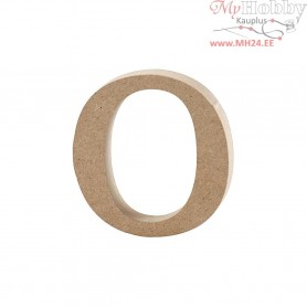 Letter, o, H: 8,4 cm, thickness 2 cm, MDF, 1pc