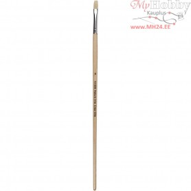Nature Line Brushes, size 8 , W: 8 mm, long handles, 12pcs