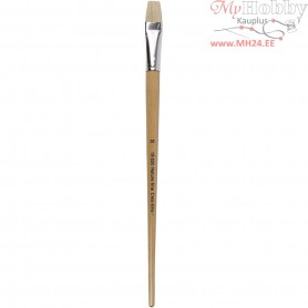 Nature Line Brushes, size 20 , W: 19 mm, long handles, 12pcs