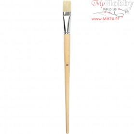 Nature Line Brushes, size 22 , W: 21 mm, long handles, 6pcs