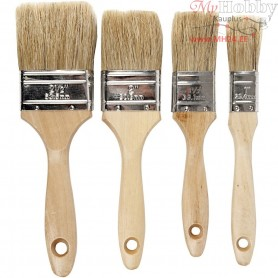 Varnish Brushes, W: 2,5-6,3 cm, 4mixed