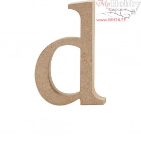 Letter, d, H: 12,2 cm, thickness 2 cm, MDF, 1pc