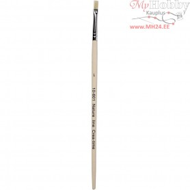 Nature Line Brushes, size 1 , W: 5 mm, short handles, 12pcs