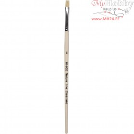 Nature Line Brushes, size 2 , W: 6 mm, short handles, 12pcs