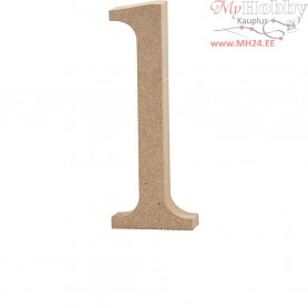 Letter, l, H: 12,7 cm, thickness 2 cm, MDF, 1pc