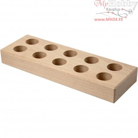 Glue Stick Holder, size 24,5x8x3 cm, hole size 2,6 cm, paulownia, 1pc