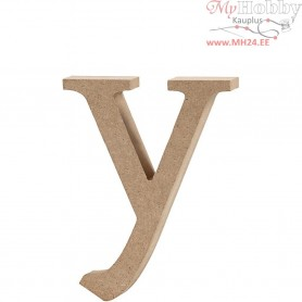 Letter, y, H: 12 cm, thickness 2 cm, MDF, 1pc