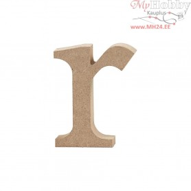 Letter, r, H: 8 cm, thickness 2 cm, MDF, 1pc