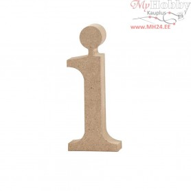 Letter, i, H: 10,5 cm, thickness 2 cm, MDF, 1pc