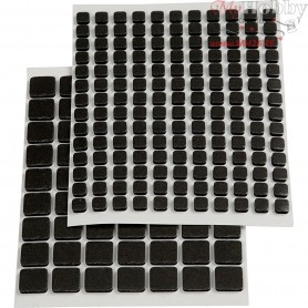 3D Foam Pads, size 10x10x2 mm, size 5x5x2 mm, black, 217mixed
