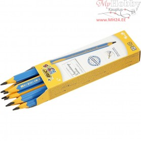 Kids Pencil, L: 14 cm,  4 mm lead, HB, 12pcs, thickness 10 mm