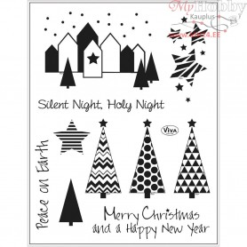 Silicone Motives, sheet 14x18 cm, silent night, 1sheet