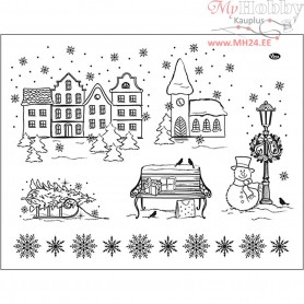 Silicone Motives, sheet 14x18 cm, christmas, 1sheet
