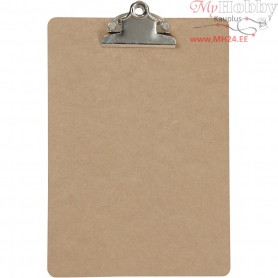 Clipboard, A5 19x27 cm, thickness 3 mm, MDF, A5, 1pc