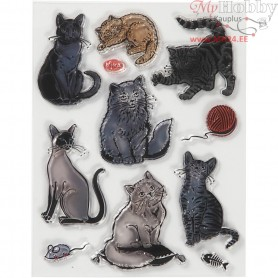 Silicone Motives, size 14x18 cm, cats, 1sheet
