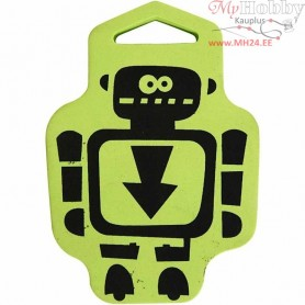 Foam Stamp, size 76x108 mm, thickness 22 mm, Robot, 1pc