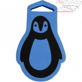 Foam Stamp, size 67x107 mm, thickness 22 mm, Penguin, 1pc