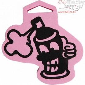 Foam Stamp, size 92x99 mm, thickness 22 mm, Spray bottle, 1pc