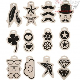 Foam Stamps, size 12x18 cm, thickness 15 mm, 12mixed