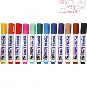 Whiteboard Markers, line width: 4 mm, 12mixed