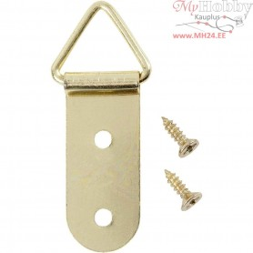 Bracket, size 15x40 mm, gold, 10pcs