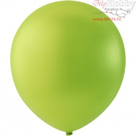 Balloons, lime green, D: 23 cm, round, 10pcs