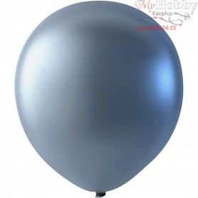 Balloons, silver, D: 23 cm, round, 8pcs