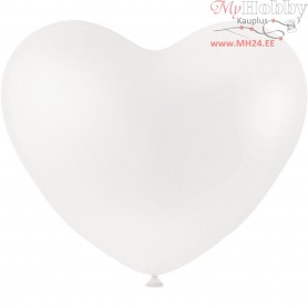 Balloons, white, hearts, 8pcs
