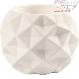 Candle Light Holder, D: 8 cm, H: 8 cm, white, 6pcs, hole size 2,2+4 cm
